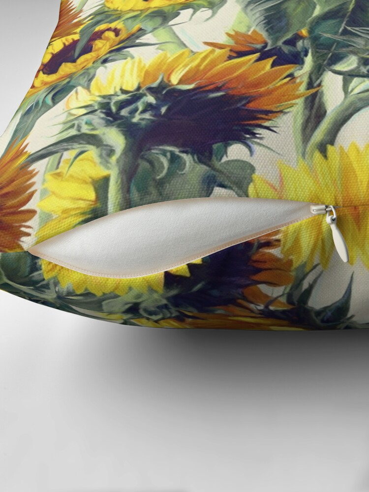 Alternate view of Sunflowers Forever Throw Pillow