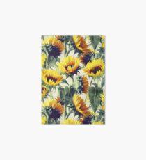 Sunflowers Forever Art Board Print