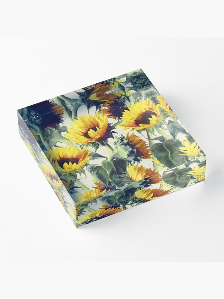 Alternate view of Sunflowers Forever Acrylic Block