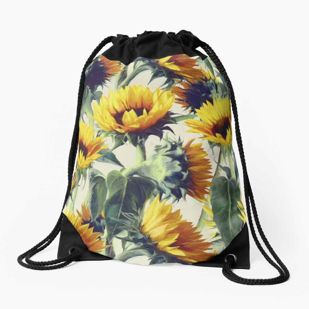 Sunflowers Forever Drawstring Bag