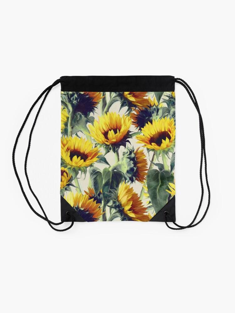 Alternate view of Sunflowers Forever Drawstring Bag