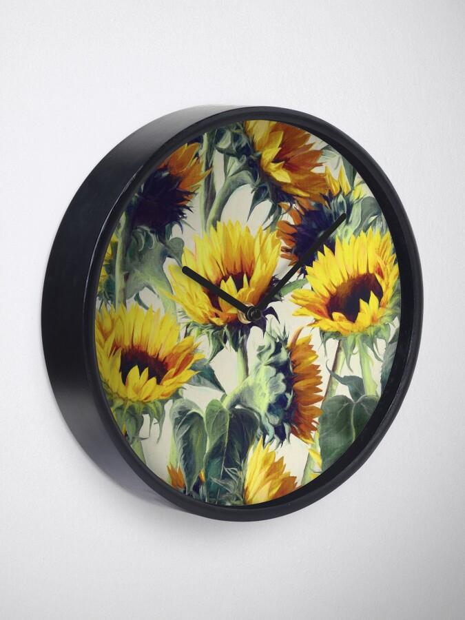 Alternative Ansicht von Sonnenblumen für immer Uhr