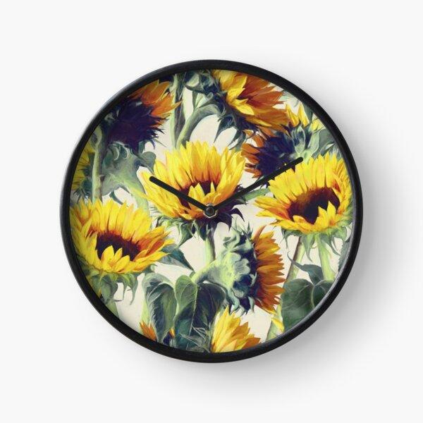 Sunflowers Forever Clock