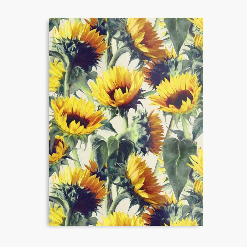 Sonnenblumen für immer Metallbild