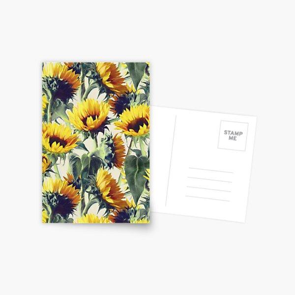 Sonnenblumen für immer Postkarte
