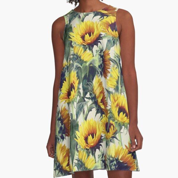 Sunflowers Forever A-Line Dress