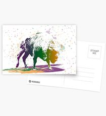 Bison in a colour storm Postcards