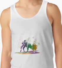 Bison in a colour storm Tank Top