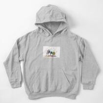 Bison in a colour storm Kids Pullover Hoodie