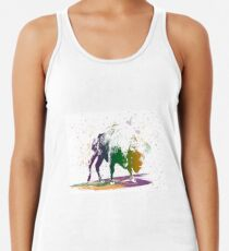 Bison in a colour storm Racerback Tank Top