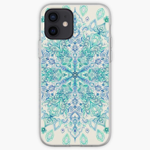 Peppermint Snowflake on Cream iPhone Soft Case