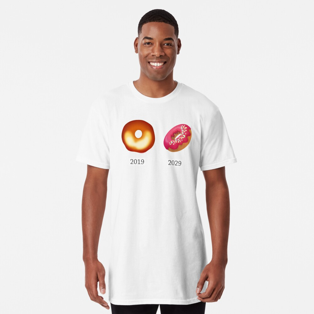 Donut and Black Hole funny science Long T-Shirt