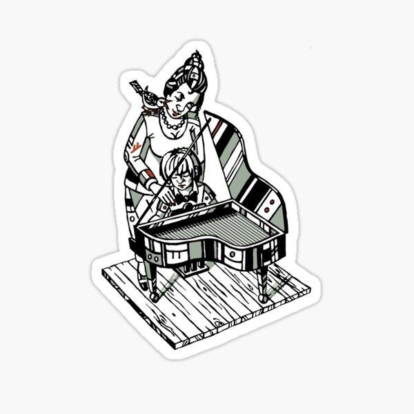 Klavierstunde Sticker