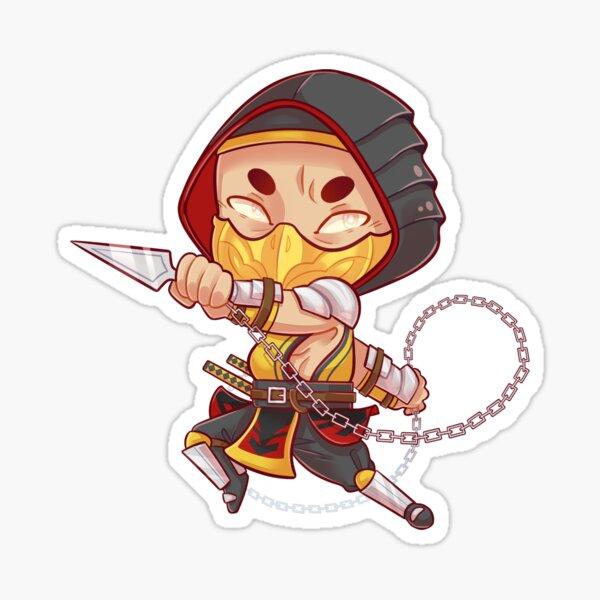 Escorpión- Mortal Kombat Pegatina