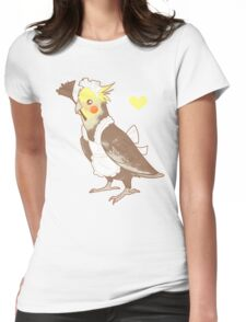 Cockatiel Maid Womens Fitted T-Shirt