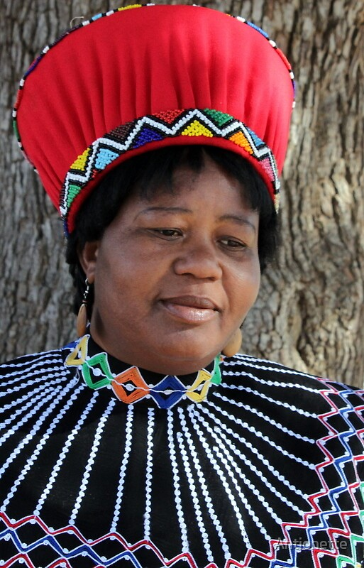 Alcon, in formal Zulu attire by Antionette