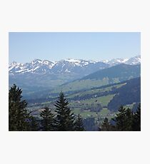 Alpine Mountain Range Photographic Print