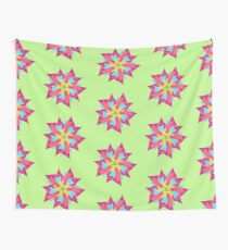 Pink Abstract Manga Flower Wall Tapestry