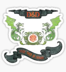Here there Be Dragons Tee Sticker