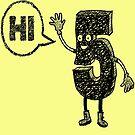 Hi Five funny cartoon doodle  by tqueen