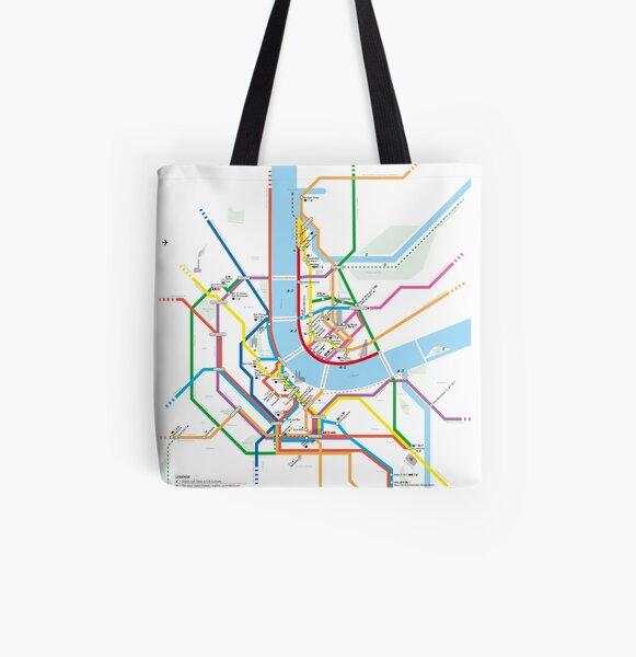 U-BAHN | BaselCitymap Artwork Allover-Print Tote Bag