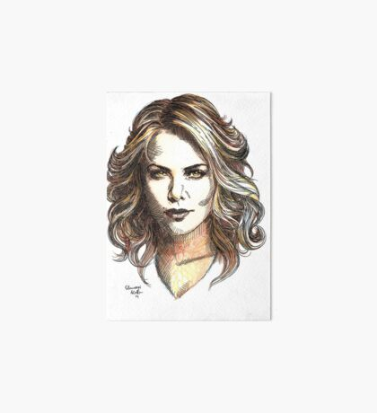 Drawing of  Charlize the movie star Art Board Print