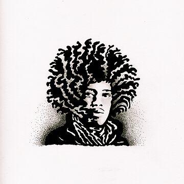 Jimi Hendrix by erinhammill