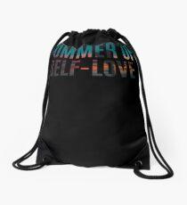 Summer of Self-Love Surfer Sunset  Drawstring Bag