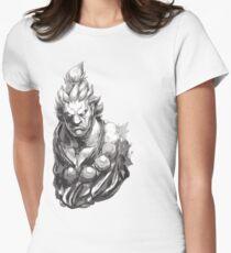 Akuma Great Demon Womens Fitted T-Shirt