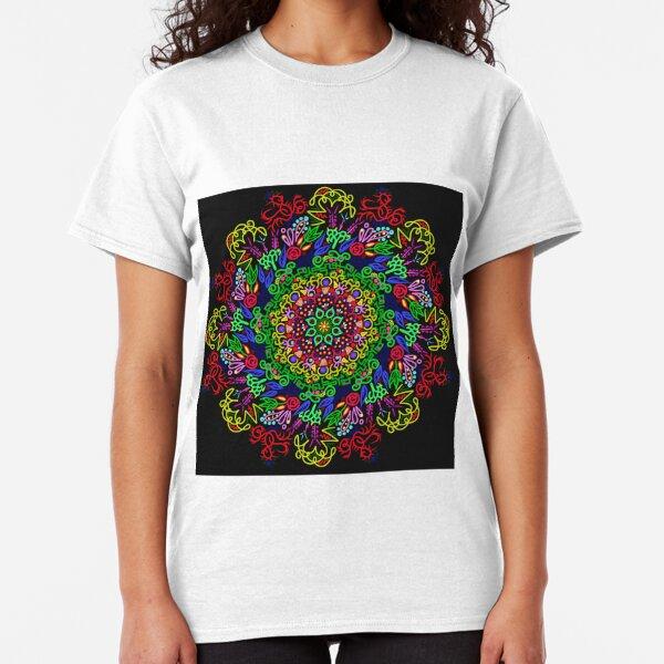 berries and roses mandala Classic T-Shirt