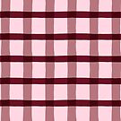 Wine Colored Jagged Edge Plaid by WRosesPatterns