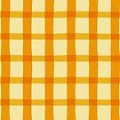 Citrus Colored Jagged Edge Plaid by WRosesPatterns