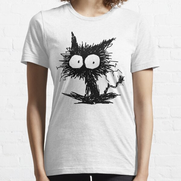 Black Unkempt Kitten GabiGabi Essential T-Shirt