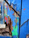 colourful rotting door frame by David Carton
