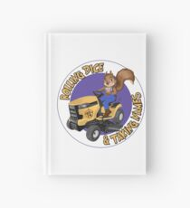 RDTN Squirrel on a Lawn Mower Hardcover Journal