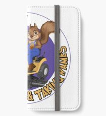 RDTN Squirrel on a Lawn Mower iPhone Wallet/Case/Skin