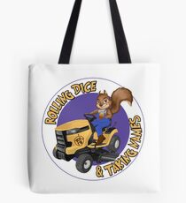 RDTN Squirrel on a Lawn Mower Tote Bag