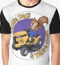 RDTN Squirrel on a Lawn Mower Graphic T-Shirt