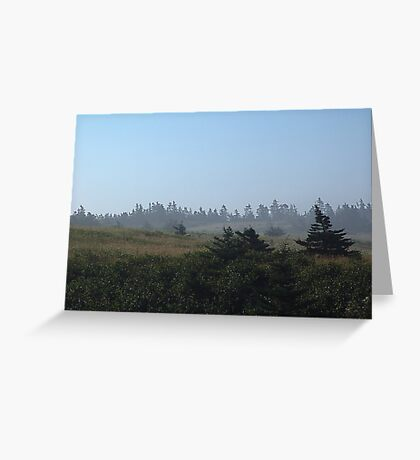A Walk in the Morning Mists Greeting Card