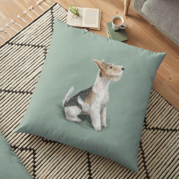 Erik the Fox Terrier Floor Pillow