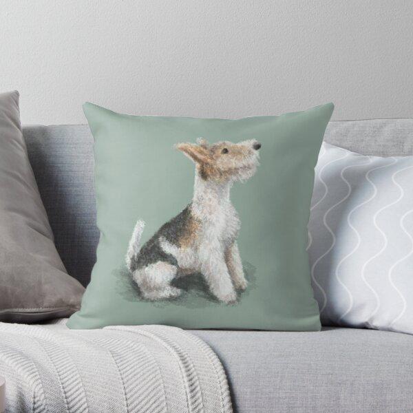 Erik the Fox Terrier Throw Pillow