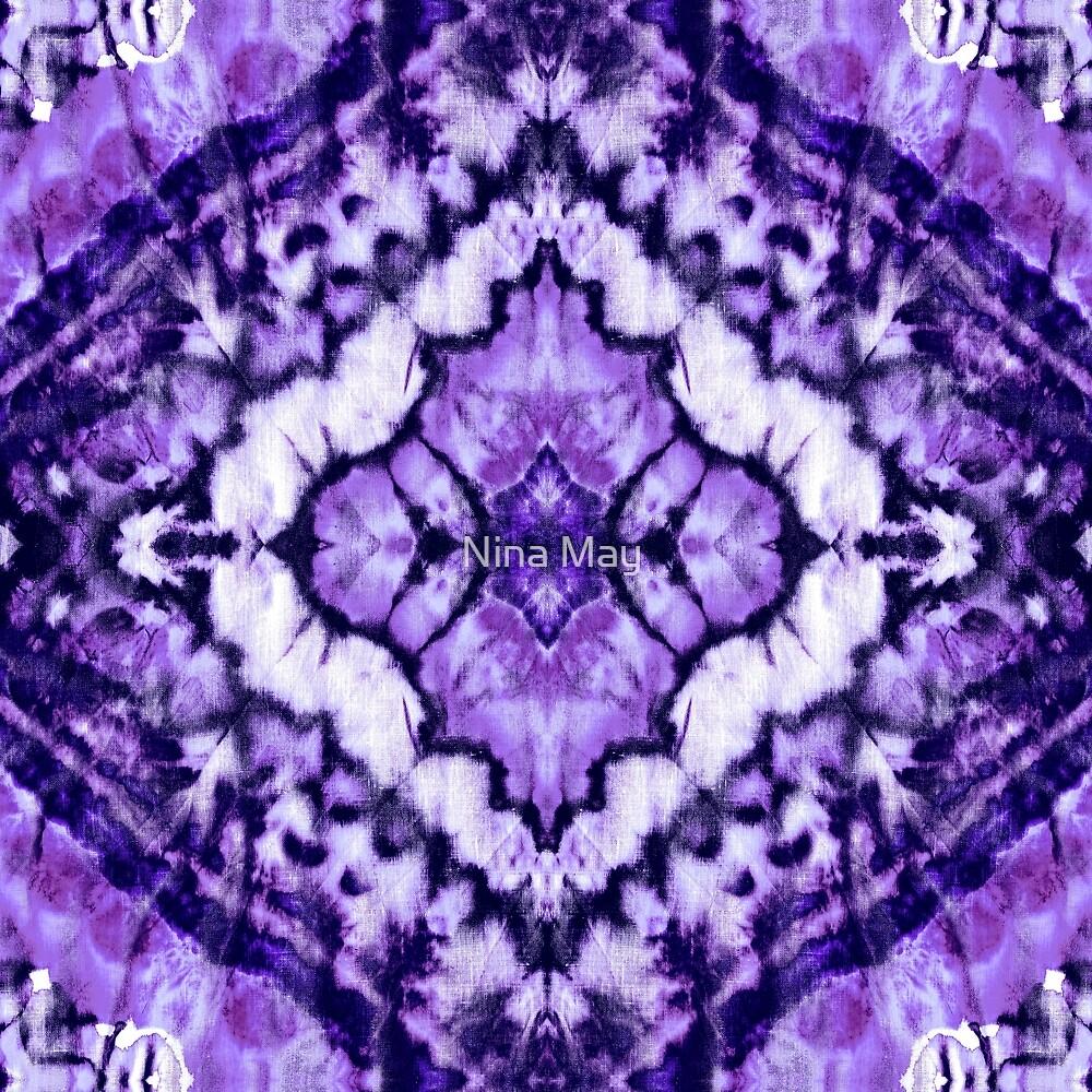 Linen Tie Dye Purple Ikat by Nina May