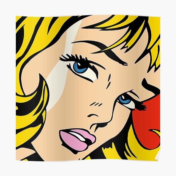 A vectorised and reworked pop art of Roy Lichtenstein  Poster