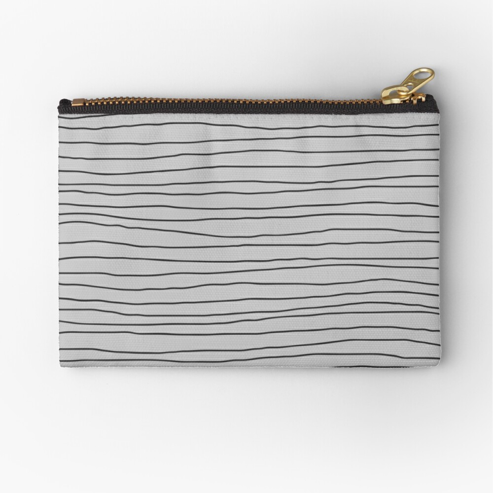 Hand Drawn Lines - Gray Zipper Pouch