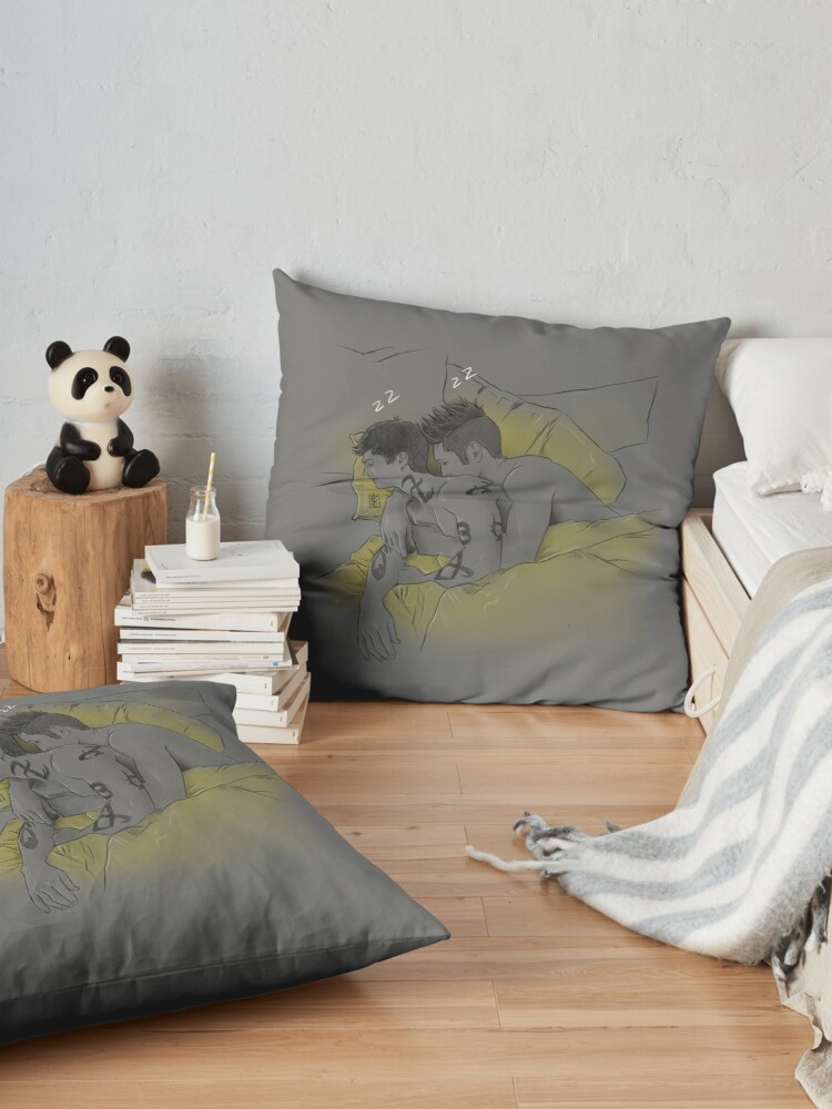 Alternate view of Sleeping Malec Floor Pillow
