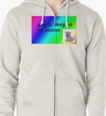 Grafikdesign ist meine Leidenschaft Regenbogen Comic Sans Kapuzenjacke