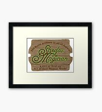 Sardos the Magician Framed Print