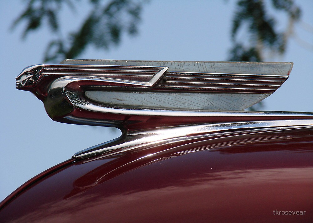 Quot Classic Chevy Hood Ornament Quot By Tkrosevear Redbubble