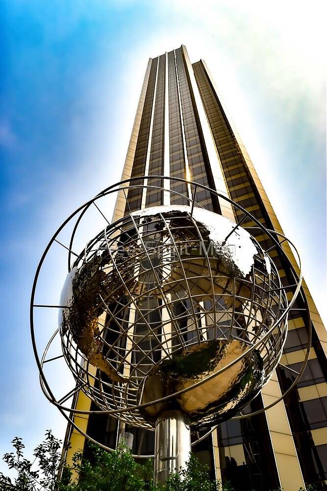 Globe in Columbus Circle by Free-Spirit-Meg