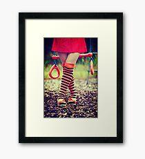 Crossed legs Framed Print